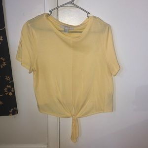 Forever 21 yellow tied shirt